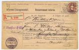 Switserland: R Brief Zürich -> Wetzikon, 1897, 30 C Standing Helvetia Internes Einzugmandat