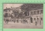 Gibraltar Vintage ( The Library) Postcard Post Card Animated  People Old Car Carte Postale - Gibraltar