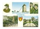 Cp, 85, Mouilleron-en-Pareds, Les Grands Hommes Vendéens, Multi-vues, Voyagée 1988 - Mouilleron En Pareds