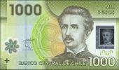 Chile 2011 $ 1000 Pesos Ignacio Carrera Polymer UNC NEW - Chili