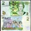 FIJI 2 DOLLARS 2011 P 109 QE II NEW SIGN UNC - Fidji