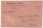 Lettre Recomm. Affr. N°193 X2 + 213 X3 + 214 + 245 X4 D'OSTENDE/1928 Pour L'Espagne - 1921-1925 Kleine Montenez
