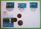 Münzen Numisbrief 1993 Ersttag Lebensraum Bodensee - [10] Commémoratives