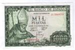BILLETE DE 1000 PESETAS DE 1965 - USADO MUY BONITO - [ 3] 1936-1975: Regime Van Franco