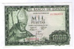 BILLETE DE 1000 PESETAS DE 1965 - USADO MUY BONITO - 1000 Pesetas