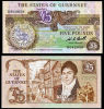 Guernsey. £5. (1980). Uncirculated. - Guernesey