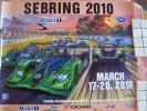 Poster  -  Affiche  -  Neuf  -  Sebring 12 Hours Sportscar Race - 2010 - Artwork By Roger Warrick - Affiches
