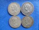 Espagne España Spain4x 5 Pesetas Argent Silver Plata 25g 0,900 Alfonso XIII 1888-89-90-91 Buen Estado. Ver Fotos - Colecciones