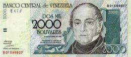 ENEZUELA 2000 BOLIVARES 1998 UNC - Venezuela