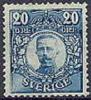 ZWEDEN 1911-14 20õre Blauw Gustav V Zonder WM PF-MNH-NEUF - Neufs