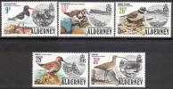 Alderney #13-17 Mint Never Hinged Set Of Birds From 1984 - Alderney