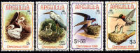 Anguilla #398-401 Mint Never Hinged Bird Set From 1980 - Anguilla (1968-...)