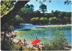 47. Cpsm. Gf. FARGUES-SUR-OURBISE. Le Lac De La Lagüe. La Plage. 0138 - France