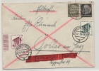 Deutsches Reich Eilbrief Express MiNr 692 693 512 und 523 MiF Schwerin Goslar