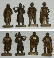 Lot 4 Figurines Métal Kinder Huns Hun 1 2 3 & 4 K95n108 109 110 - Figurines En Métal