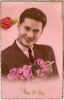 Cartes Postales - Vive Saint Eloi - Jeune Homme + Roses - Holidays & Celebrations
