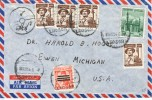 Egypt  Modern  Postal History Cover To U.S.  1954 - Egypt