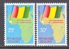 Rep. Of Guinee  203-4  **  MAP  FLAG - Guinea (1958-...)