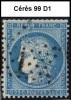 Planchage Cérès 25c. Bleu De 1871 - 99 D1 - 1871-1875 Ceres