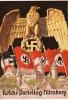 REICHS PARTEITAG NÜRNBERG AIGLE INSIGNE NAZI  ET DRAPEAUX  ILLUS HANS FRTÉDMANN MÜNCHEN - Ereignisse