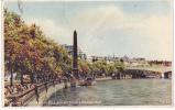 90295 Cpa LONDON Cleopatra´s Needle (color)  (voir Affranchissement) - River Thames