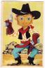"""AK Cowboy  Mechanische Karten MIT Plastikaugen KROATIEN """" O.KERSOVANI """" RIJEKA  OLD POSTCARD 1959 - Ansichtskarten"""