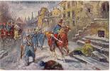 AK MILITARIA PFERDE EINZUG DER VERB�NDETEN ARMEEN IN LODZ ZENSURIERT OLD POSTCARD 1915