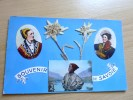Cpa Souvenir De Savoie Costumes, Fleurs Reel Collée Et Ramoneur Savoyard                  TBE - Other Municipalities