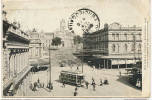 Auckland Wellesley ST. Public Library Tramway Tram  P. U. 1908 To Cienfuegos Cuba - New Zealand