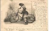 LOT DE 8 C.P.  UNE LECON DE BICYCLETTE - Cycling