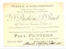Carte De Visite - Vve Duchesnez & Binet - Paris - Bruxelles - Tissus D'ameublement (k) - Cartes De Visite