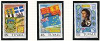Tuvalu MNH Scott #180 To #182 Set Of 3 Royal Visit 1982 - Tuvalu