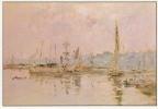 BOUDIN Eugène - Pré-impressionnisme - Port De Trouville - Au Dos Commentaire Sur Le Tableau - TBE, Carte Neuve, 2 Scans - Pittura & Quadri