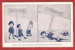 X0767 Danger De L'Alcool Pour Les Enfants,Illustration,Noyade,Dessin.Non Circulé. IMprimeries Réunies Lausanne - Salud