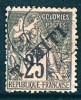 TAHITI   Alphée Dubois 25 Cent Surchargé «TAHITI» Yv 15  Oblitéré - Used Stamps