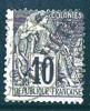 TAHITI   Alphée Dubois 10 Cent Surchargé «TAHITI» Yv 11  Oblitéré - Used Stamps