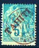 TAHITI   Alphée Dubois 5 Cent Surchargé  «TAHITI»    Yv 10  Oblitéré - Used Stamps
