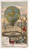 IMAGE 13 DANS LES AIRS ASCENSION A LYON DE LA MONTGOLFIERE LE FLESSELLES QUI NE PUT RESTER QUE 15 MINUTES EN L'AIR 1784 - Vieux Papiers