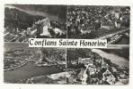 Conflans-sainte-honorine (78) :4 Vues Aériennes Du Bourg En 1950 PHOTO VERITABLE. - Conflans Saint Honorine