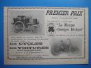 Publicité 1898 GEORGES RICHARD Cycles Et Voitures Automobiles - Publicités
