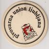 UNION BREWERY BEER PIVO Ljubljana Slovenia Yugoslavia  Old Beer Coaster - Sous-bocks