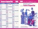 CALENDRIERS FEMMES D AUJOURD HUI 1980 - Calendriers