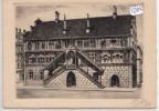 CPA GF - 68 - Mulhouse  - Hôtel De Ville - Eau Forte Originale Signée (1943) - Mulhouse