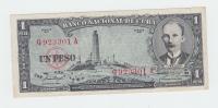 CUBA 1 Peso 1957 VF++  P 87b  87 B - Cuba