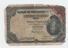 AZORES ACORES 2500 Reis 30.7. 1909 VG P 8b 8 B  VERY RARE - Portugal