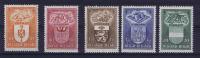 Belgium: 1947  756-760 MNH/Neuf**