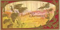 Parfum/Savon/Etiquette de boites de Savon/Foug�res d�Automne/ Cosmydor/Paris/vers  1910                  PARF2