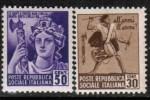 ITALY   Scott #  22-31**  VF MINT NH - 4. 1944-45 Social Republic