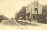134 - BOIS-LE-ROI - LA GARE ( Animées + TRAIN VAPEUR ) - Bois Le Roi