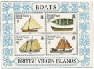 Virgin Isl, Scott 2012 # 483a, Issued 1984,  S/S Of 4, NH, $ 6.75, Ships - British Virgin Islands